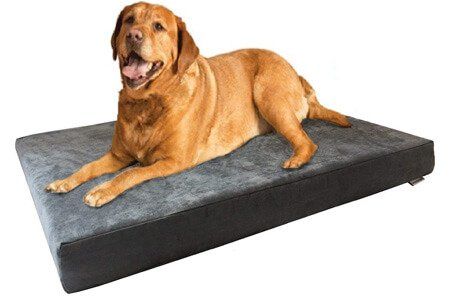 Dogbed4less Cooling Memory Foam – Machine washable large dog bed