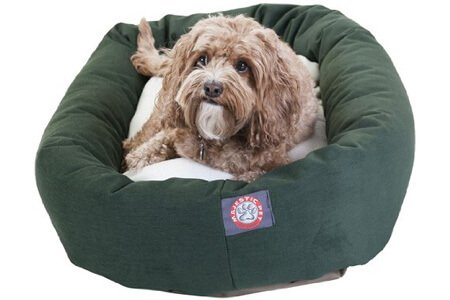 Majestic Pet Poly-Cotton Sherpa Bagel Dog Bed – Best cheap waterproof dog beds