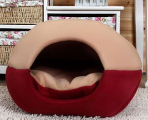 FFMODE Cozy Dog Cave Bed with Removable Cushion inside