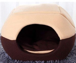 FFMODE Cozy Pet Dog Cat Cave Bed with Removable Cushion inside