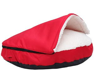 HappyCare Textiles Dog Bed Cave and Round Pet Bed for Small Dogs