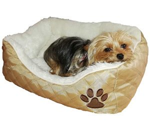 Mon Amour Yorkie Pincher Puppy Chihuahua Small Breed Luxury and Comfortable Dog Bed pet Washable