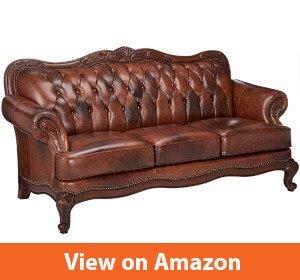 Victoria Classic Rolled Arm Sofa Tri-tone Warm Brown