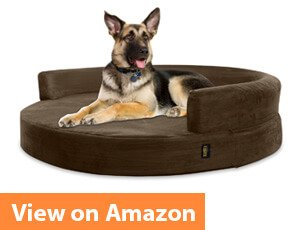 Deluxe Orthopedic Memory Foam ROUND Sofa Dog Bed