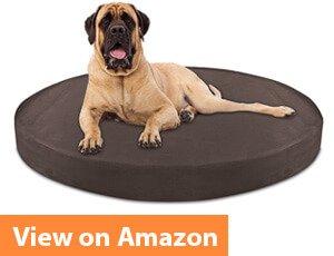 Deluxe Orthopedic Memory Foam ROUND Dog Bed by KOPEKS