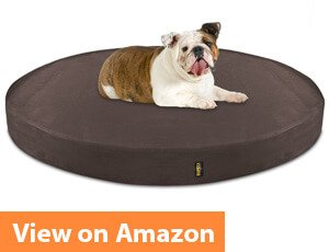 Deluxe Orthopedic Memory Foam ROUND Dog Bed for German Shepherds