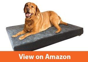Dogbed4less Orthopedic Gel Cooling Memory Foam Dog Bed