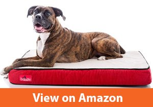 Brindle-Waterproof-Designer-Memory-Foam-Pet-Bed