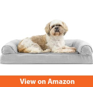 FurHaven Pet Dog Bed - Orthopedic Ultra Plush Sofa-Style Couch