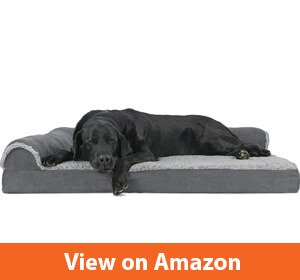Furhaven Deluxe Chaise L-Shaped Lounge Bed