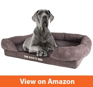 The Dog's Bed, Premium Orthopedic Memory Foam Waterproof Dog Beds, Eases Pet Arthritis, Hip Dysplasia & Post Operation Pain, Quality Therapeutic Supportive Bed, Washable Covers