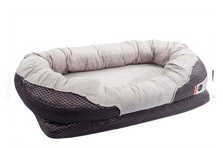 BarksBar Gray Best Orthopedic Dog Bed for Goldendoodle