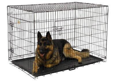 Go Pet Club 24-Inch Two Door Folding Metal Cage