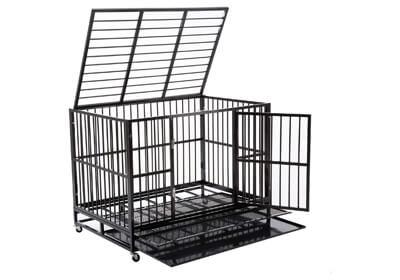 WALCUT Heavy Duty Dog Cage Rolling Metal Pet Crate Folding Kennel