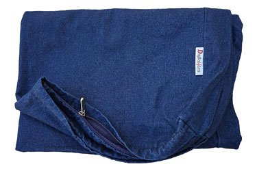 Heavy Duty Navy Blue Denim Jean Dog Pet Bed External Duvet Cover