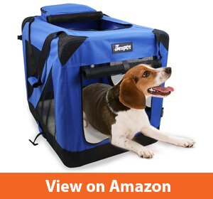 JESPET 3 Door Soft Sided Folding Travel Golden Retriever Carrier