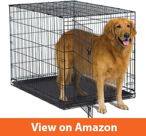 New World Folding Metal Crate For Golden Retrievers