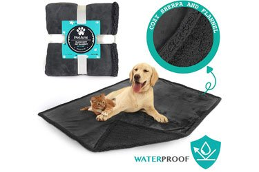 PetAmi Waterproof Dog Blanket for Bed, Couch, Sofa