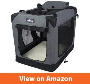 EliteField 3-Door Folding Soft Dog Crate, Indoor & Outdoor Pet Home