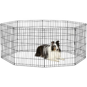 New World Pet Products Foldable Metal Exercise Pen & Pet Playpen