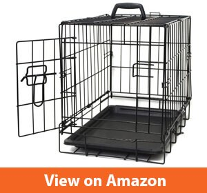 Paws & Pals Dog Crate Double-Door Folding Metal - Wire Pet Cage