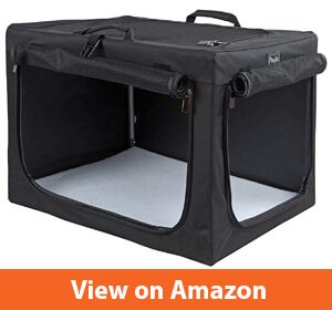 Petsfit Travel Pet Home IndoorOutdoor for Dog Steel Frame Home, Collapsible Soft Dog Crate