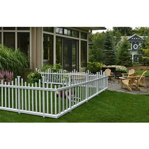Zippity Outdoor Products ZP19001 Madison Vinyl Picket Fence