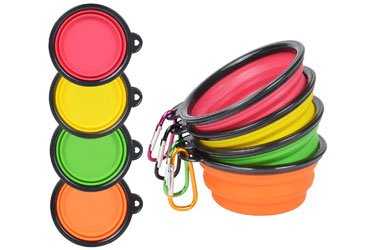 Best plastic Silicone Collapsible Dog Bowl